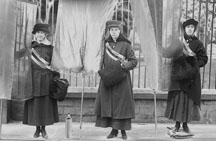 Alice Paul, Lucy Burns, Doris Stevens
